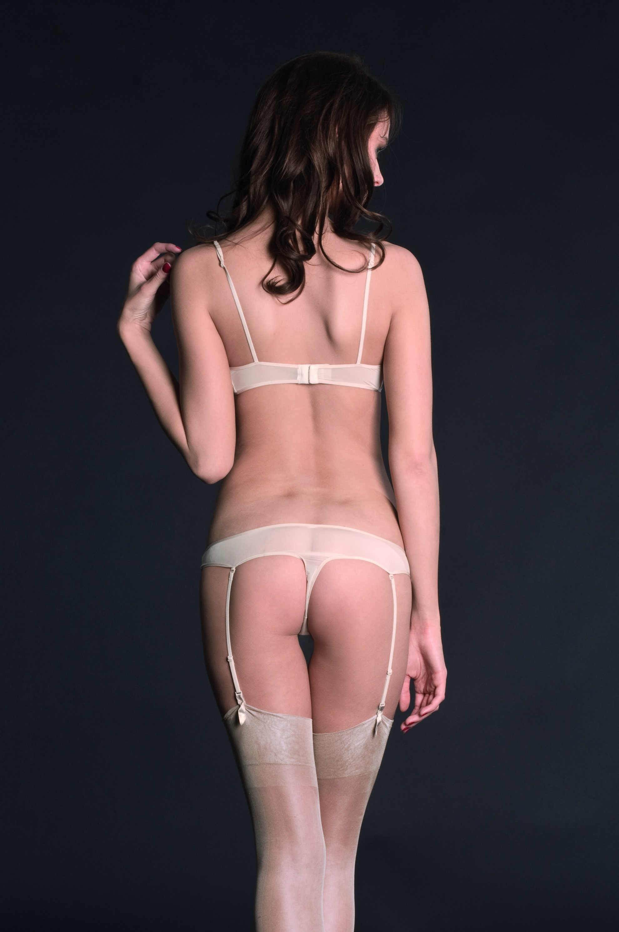Masion Close Tanga s podvazky / Thong with suspender